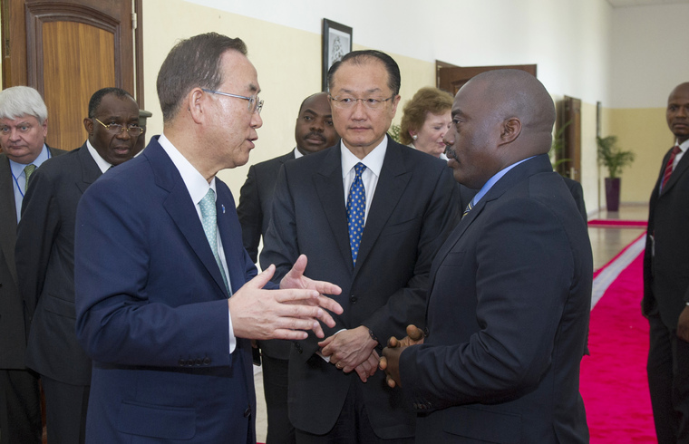 UN and World Bank Heads Meet President of Democratic Republic of Congo