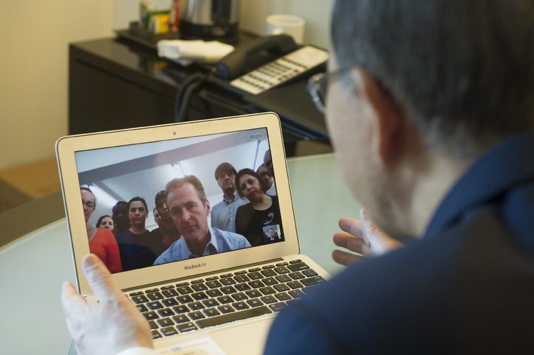 Secretary-General Addresses UNRWA Staff in Gaza via Skype