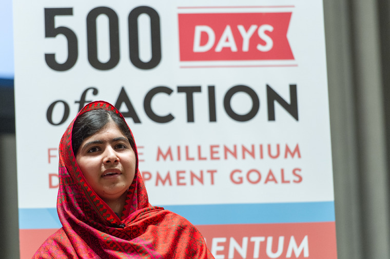 Education Advocate Malala Attends MDG Event