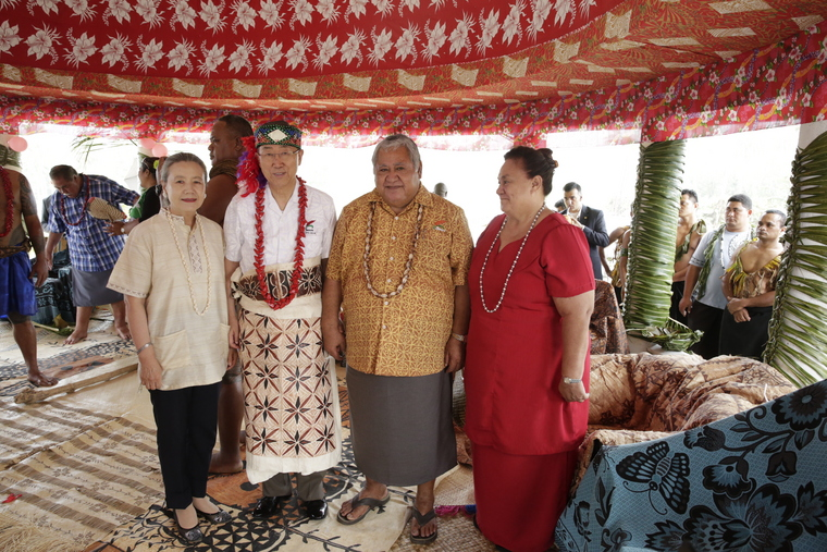 Secretary-General Visits Climate-Displaced Community with Prime Minister of Samoa