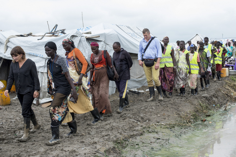 Dutch Minister Visits POC Sites in Malakal, South Sudan