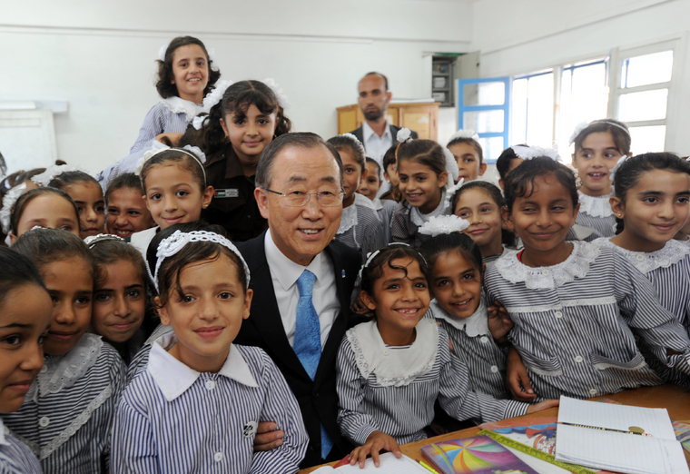 Secretary-General Visits Jabalia School in Gaza