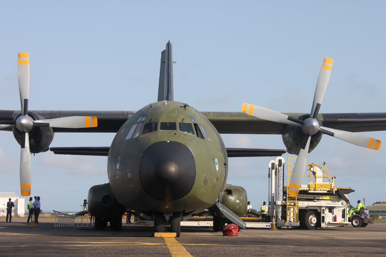 German Aircraft Arrives in Ghana to Help Deliver UN Supplies for Emergency Ebola Response