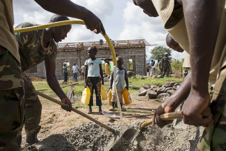 Construction Continues at Kapuri Primary School, South Sudan