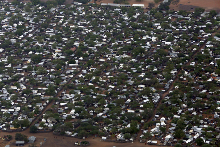 Aerial Views of Ifo 2 Refugee Camp in Dadaab, Kenya