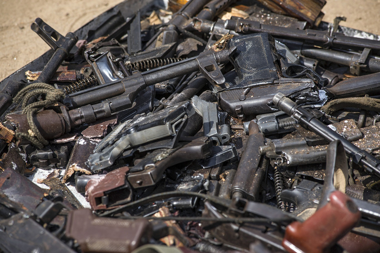 UNMISS Launches Destruction of Weapons Confiscated from Displaced Persons