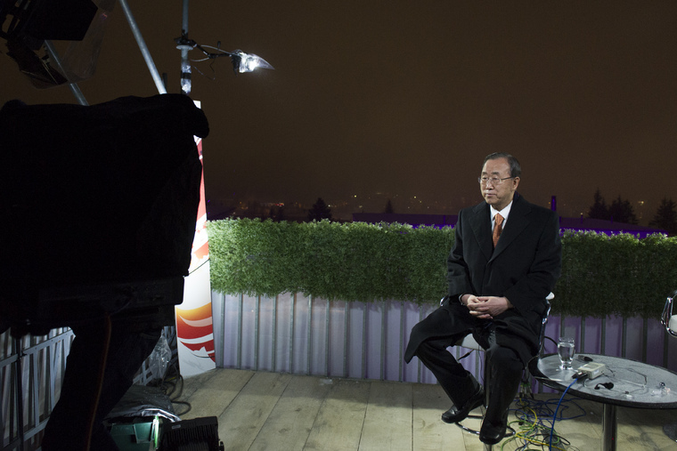 Secretary-General Interviewed by BBC in Davos