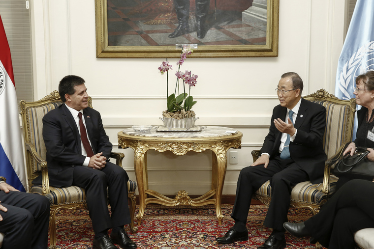 Secretary-General Meets President of Paraguay