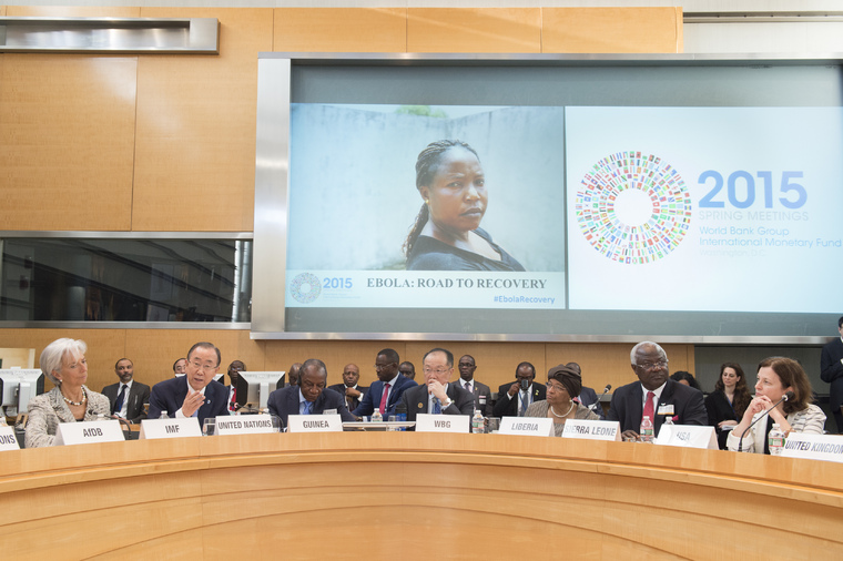 Secretary-General Attends World Bank High-level Roundtable on Ebola