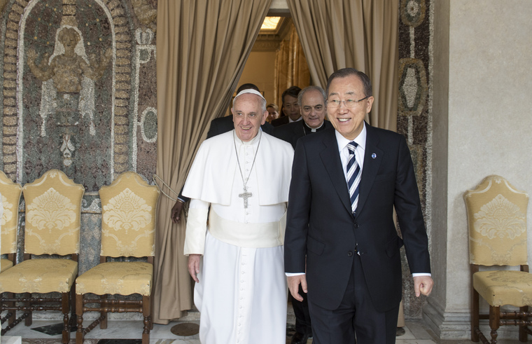 Secretary-General Has Audience with Pope