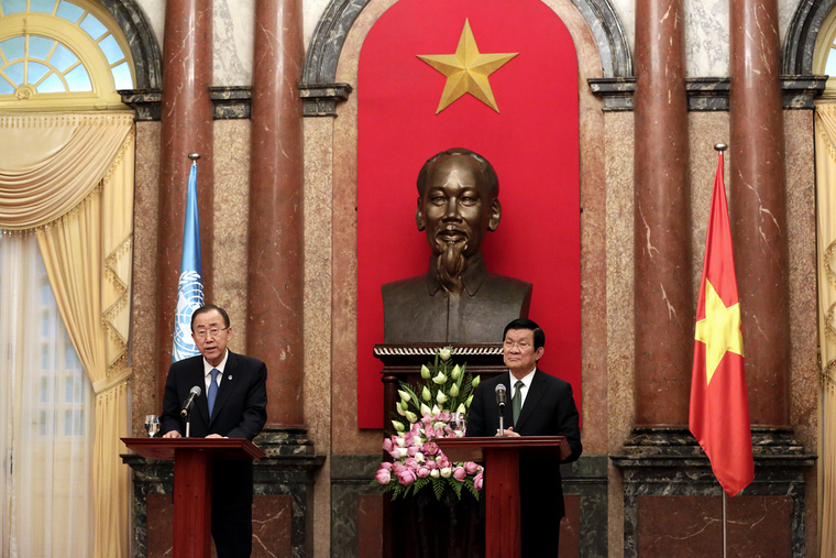 Joint Press Conference by Secretary-General, President of Viet Nam