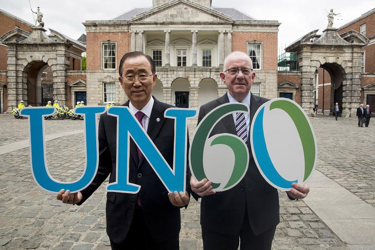 Secretary-General Celebrates 60th Anniversary of Ireland's Admission into UN