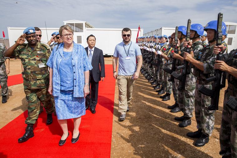 Inauguration of UNMISS Chinese Battalion Camp, Juba