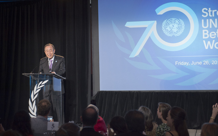 Secretary-General Speaks at United Nations Champions Dinner