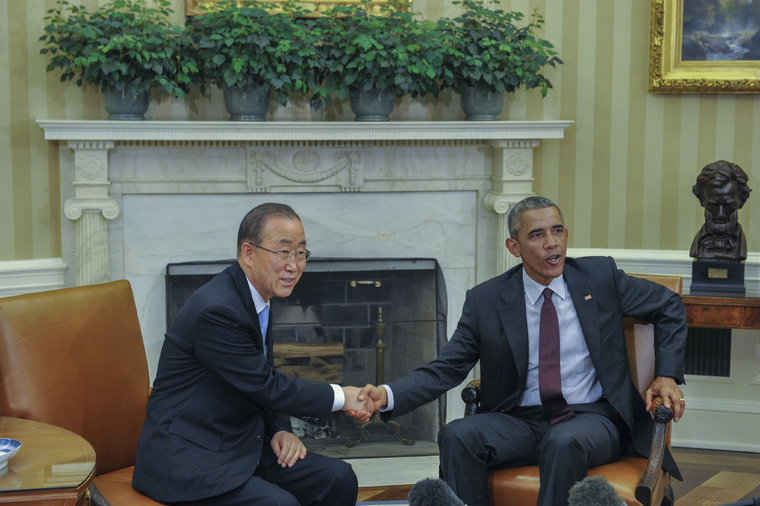 Secretary-General Meets President of United States