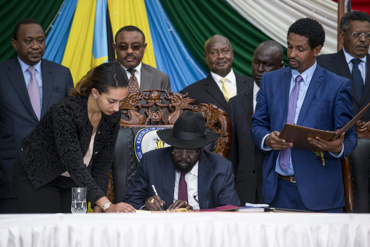 South Sudan President Signs Agreement to Resolve Conflict
