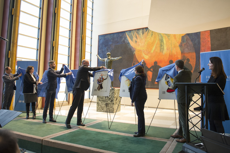 Unveiling of Commemorative UN Postage Stamps Promoting LGBT Equality