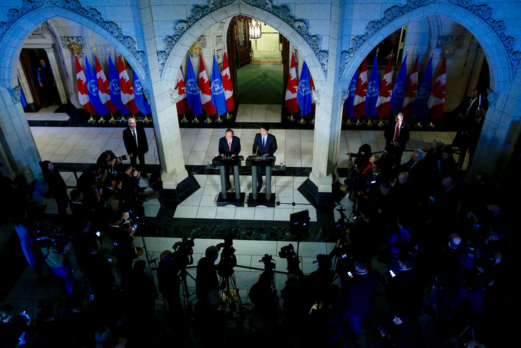Secretary-General, Prime Minister of Canada Address Joint Press Conference