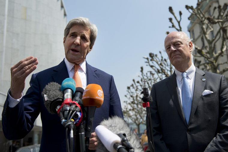 UN Special Envoy for Syria Meets United States Secretary of State in Geneva