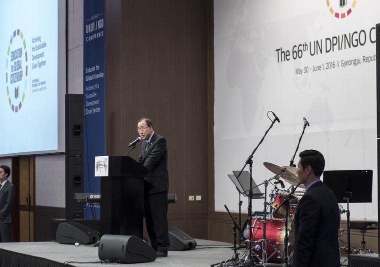 Secretary-General Addresses DPI/NGO Conference Dinner