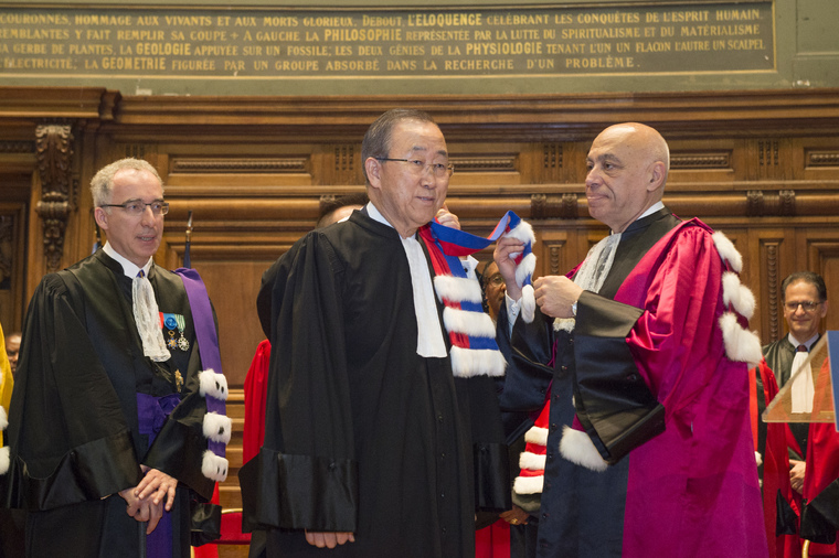 Secretary-General Receives Honorary Doctorate from Pantheon-Sorbonne University