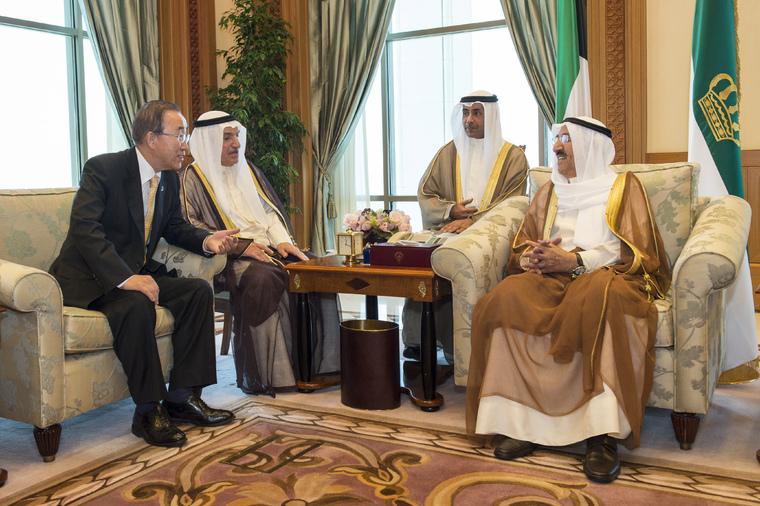 Secretary-General Meets Amir of Kuwait
