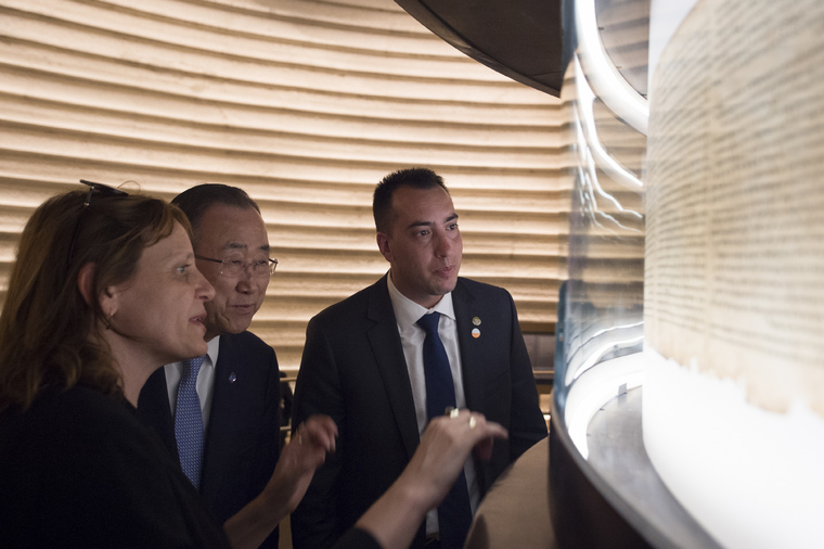 Secretary-General Visits Israel Museum, Jerusalem