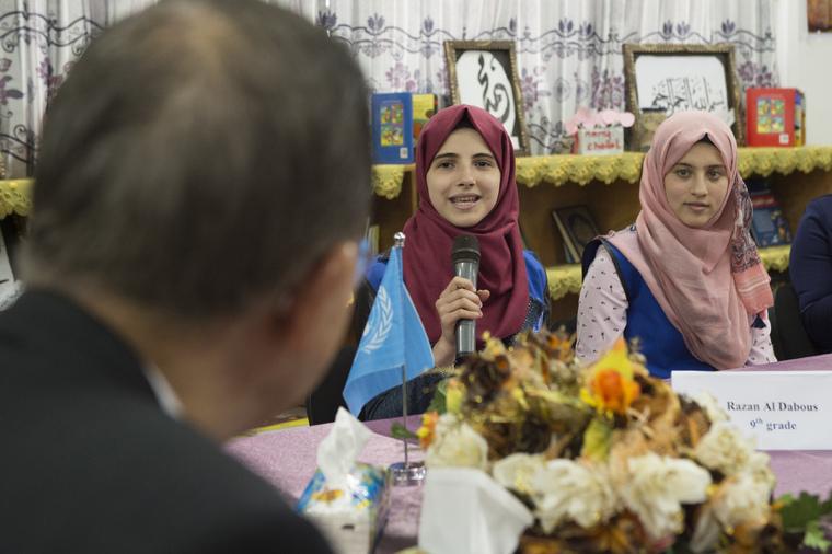 Secretary-General Visits School in Gaza