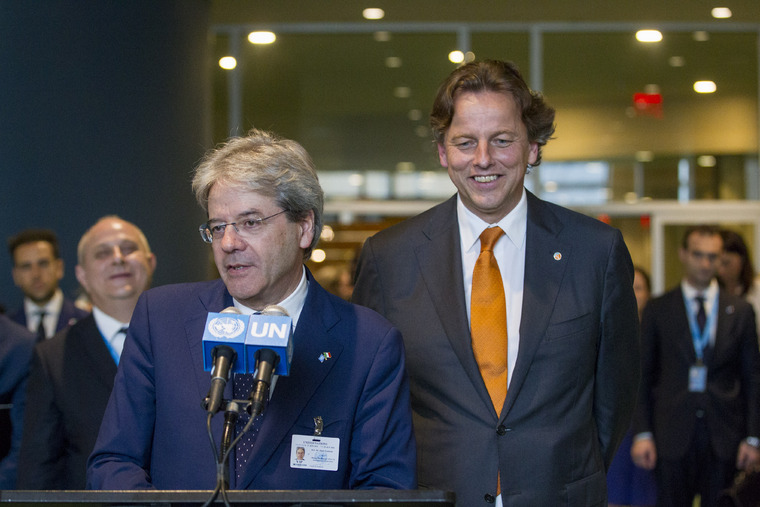 Foreign Ministers of Italy, Netherlands Brief Press on Security Council Elections