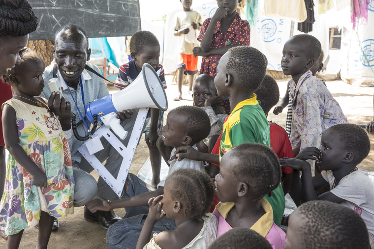 Displaced Children Attend Makeshift Classes, Juba