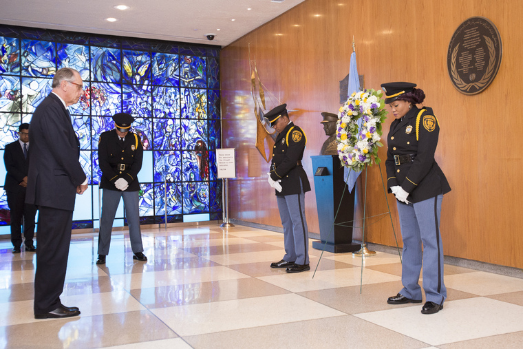 Wreath-laying Ceremony to Mark Anniversary of UN Headquarters Bombing in Baghdad