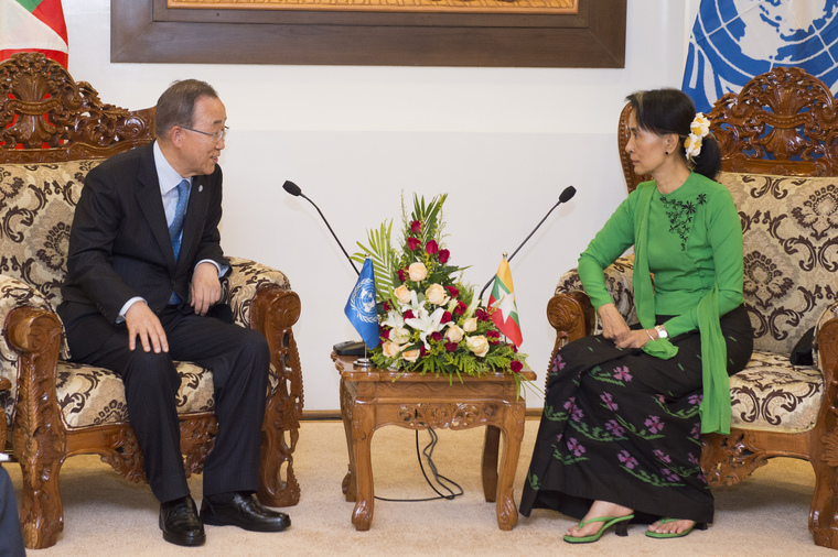 Secretary-General Meets State Counsellor of Myanmar