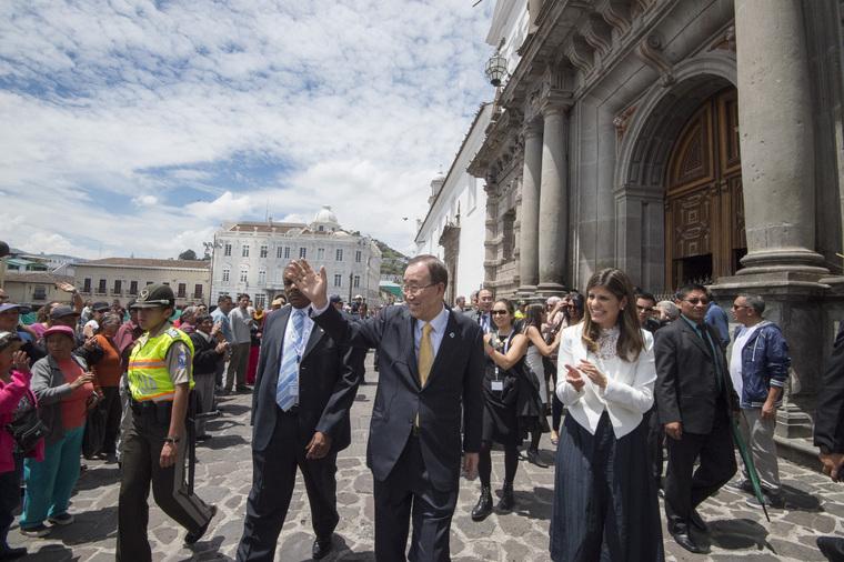Secretary-General Visits Historic Centre of Quito, Ecuador.