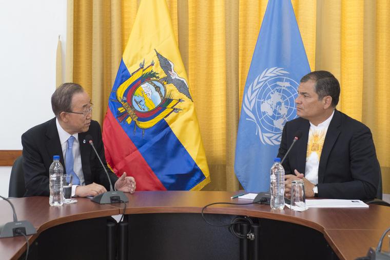 Secretary-General Meets President of Ecuador