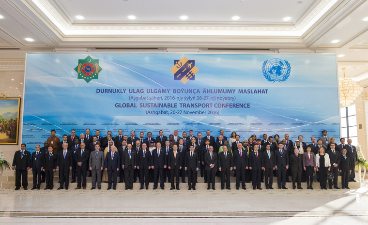 Group Photo of UN Global Sustainable Transport Conference Participants