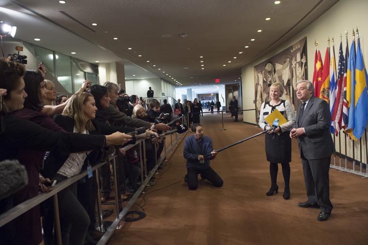 Secretary-General, Security Council President Brief Press