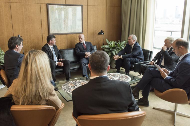 President of General Assembly Meets Foreign Minister of Slovakia