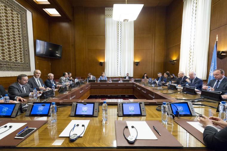 UN Envoy Meets Delegation of Syrian Government