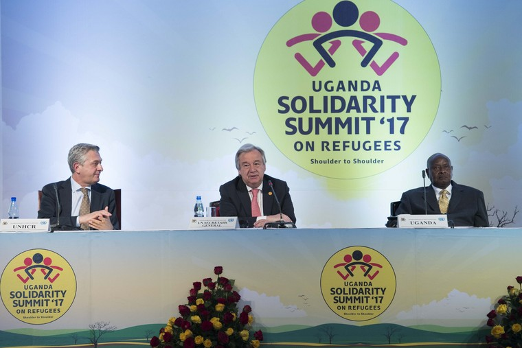 Secretary-General Co-chairs Uganda Solidarity Summit 2017 on Refugees
