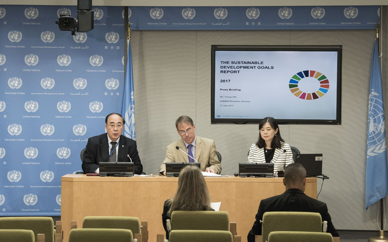 Press Briefing on Launch of SDGs Report 2017