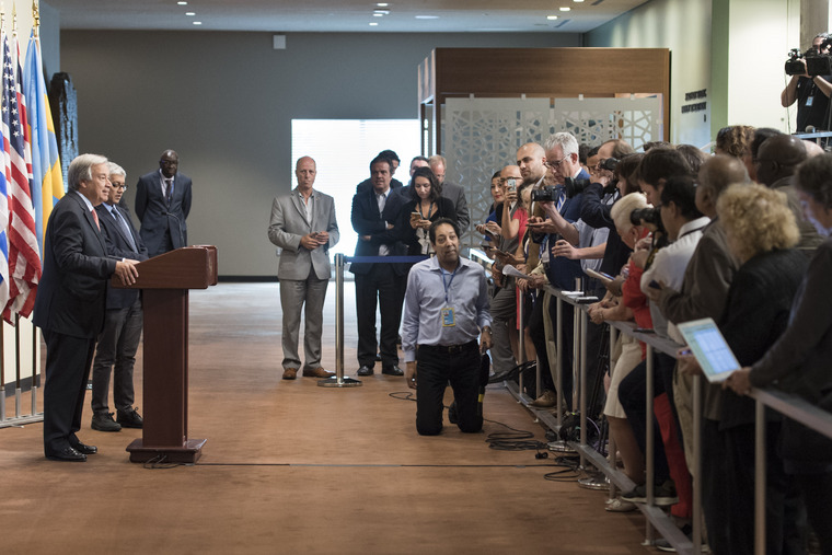Secretary-General Addresses Press