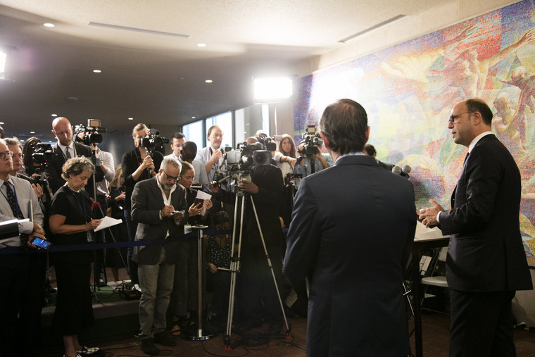 Foreign Minister of Italy Addresses Press