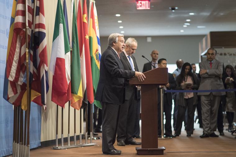 Secretary-General Addresses Press on Middle East