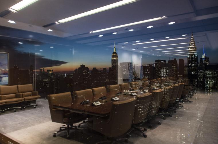 View of Manhattan Skyline from UN Headquarters