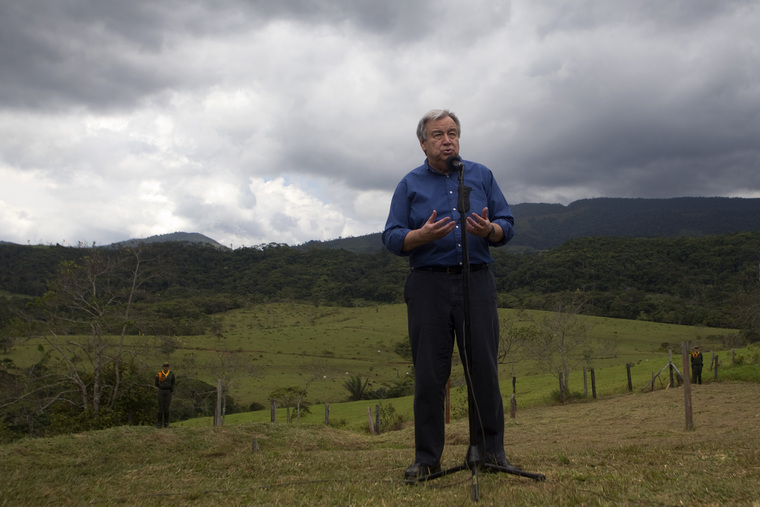 Secretary-General Visits Colombia to Support Peace Efforts