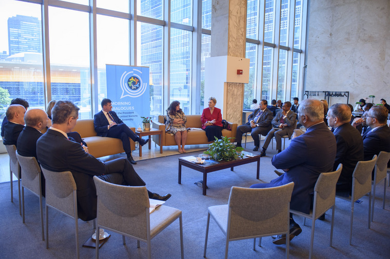 GA President Holds Morning Dialogue with UN Permanent Representatives