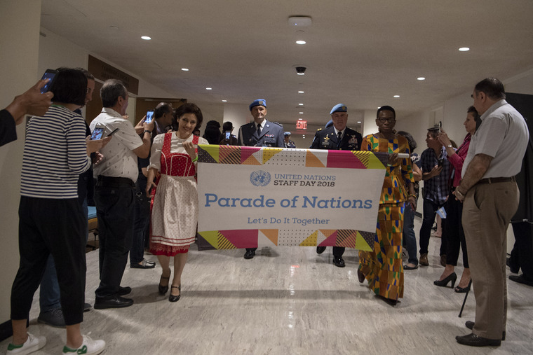 Parade of Nations Marks UN Staff Day