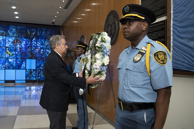 Staff Day Wreath-laying Ceremony