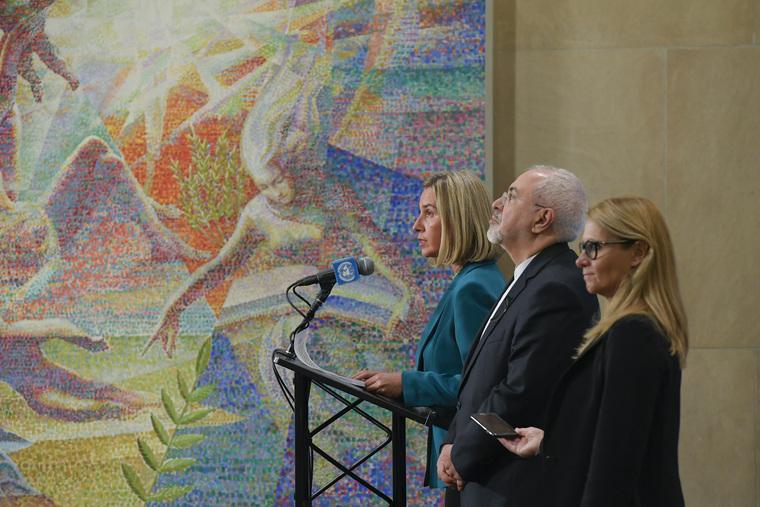 European Union High Representative Addresses Press on JCPOA