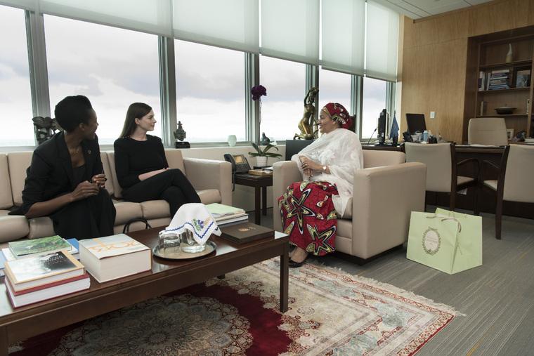 Deputy Secretary-General Meets UN Women Goodwill Ambassador
